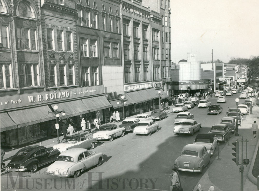 North side of the Courthouse Square, 1956.