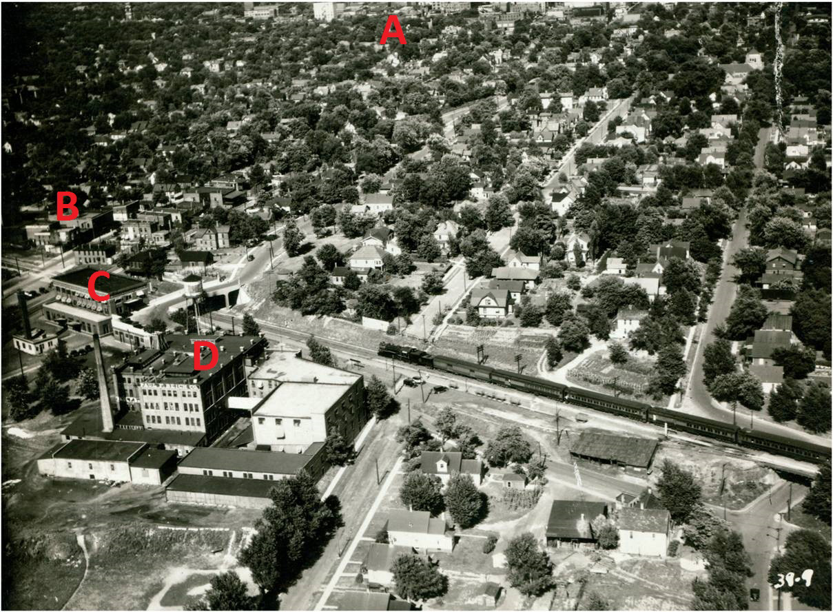 Aerial view of Beich Plant, 1932.