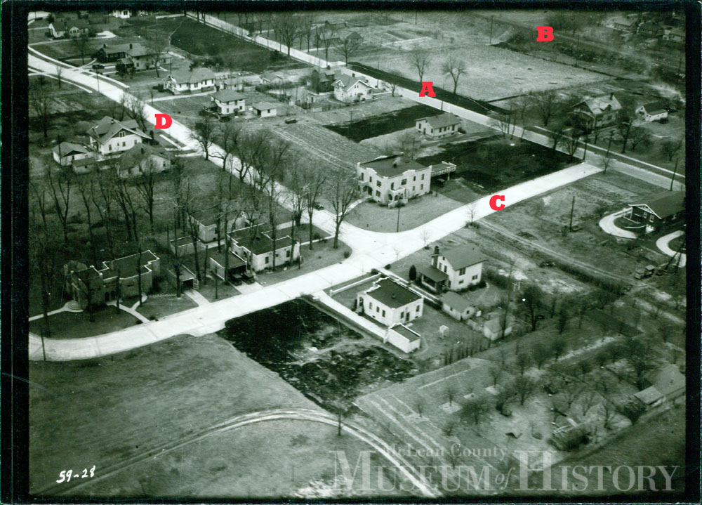 Aerial view of Briarwood, 1934.