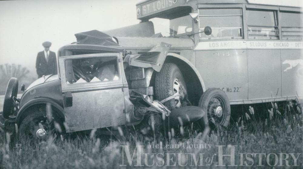 Bus accident, 1935.