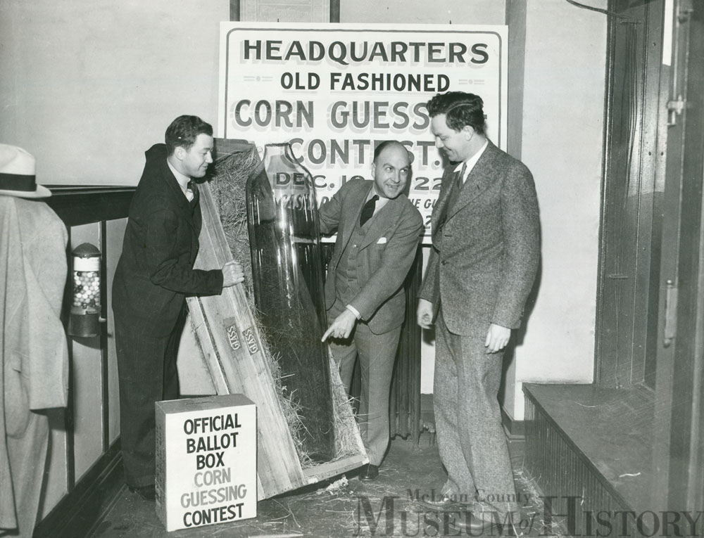 Corn guessing contest, 1934.