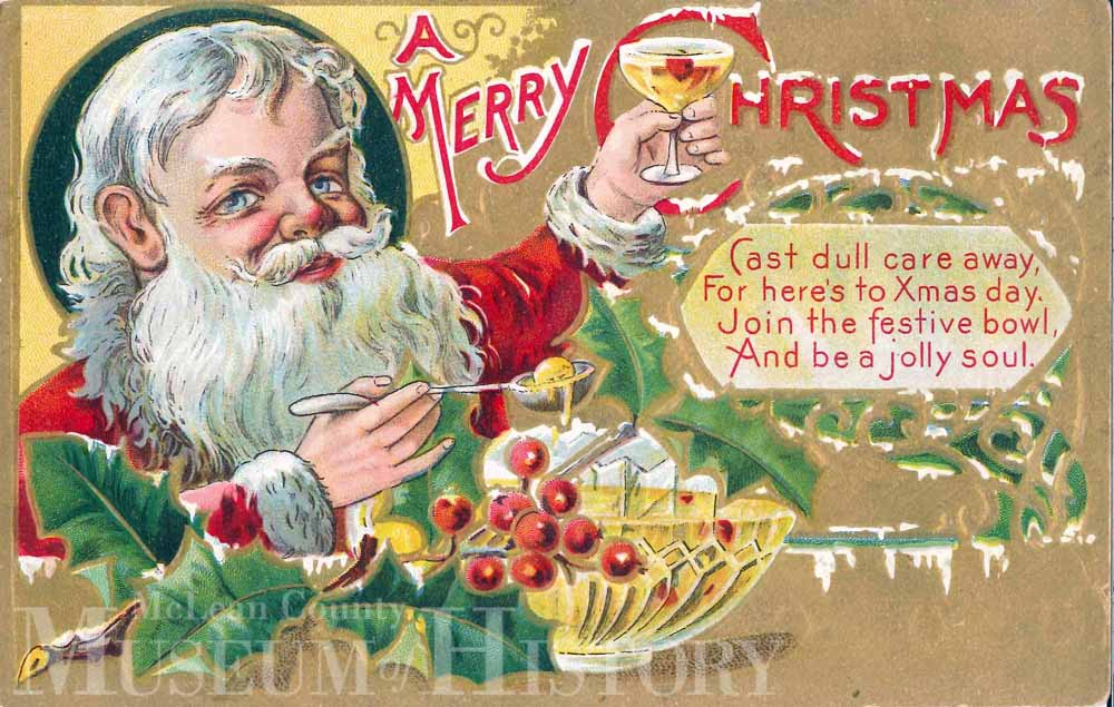 Christmas Santa card, undated