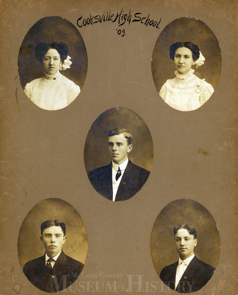 Cooksville High School graduates, 1909.