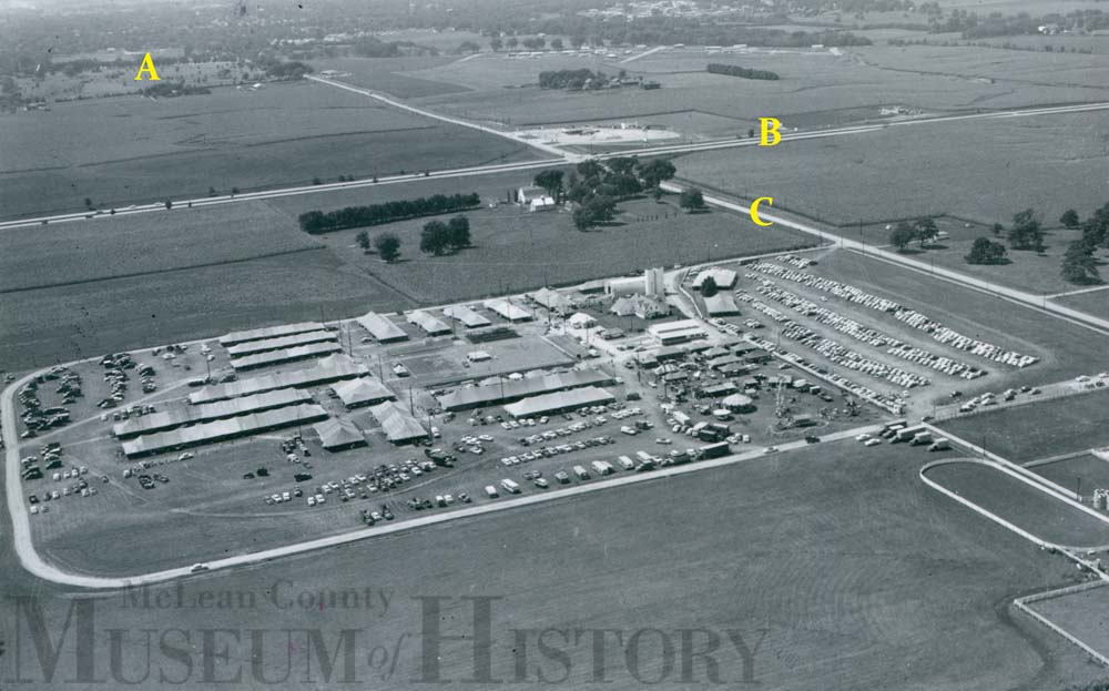 Aerial view of Normal, undated.