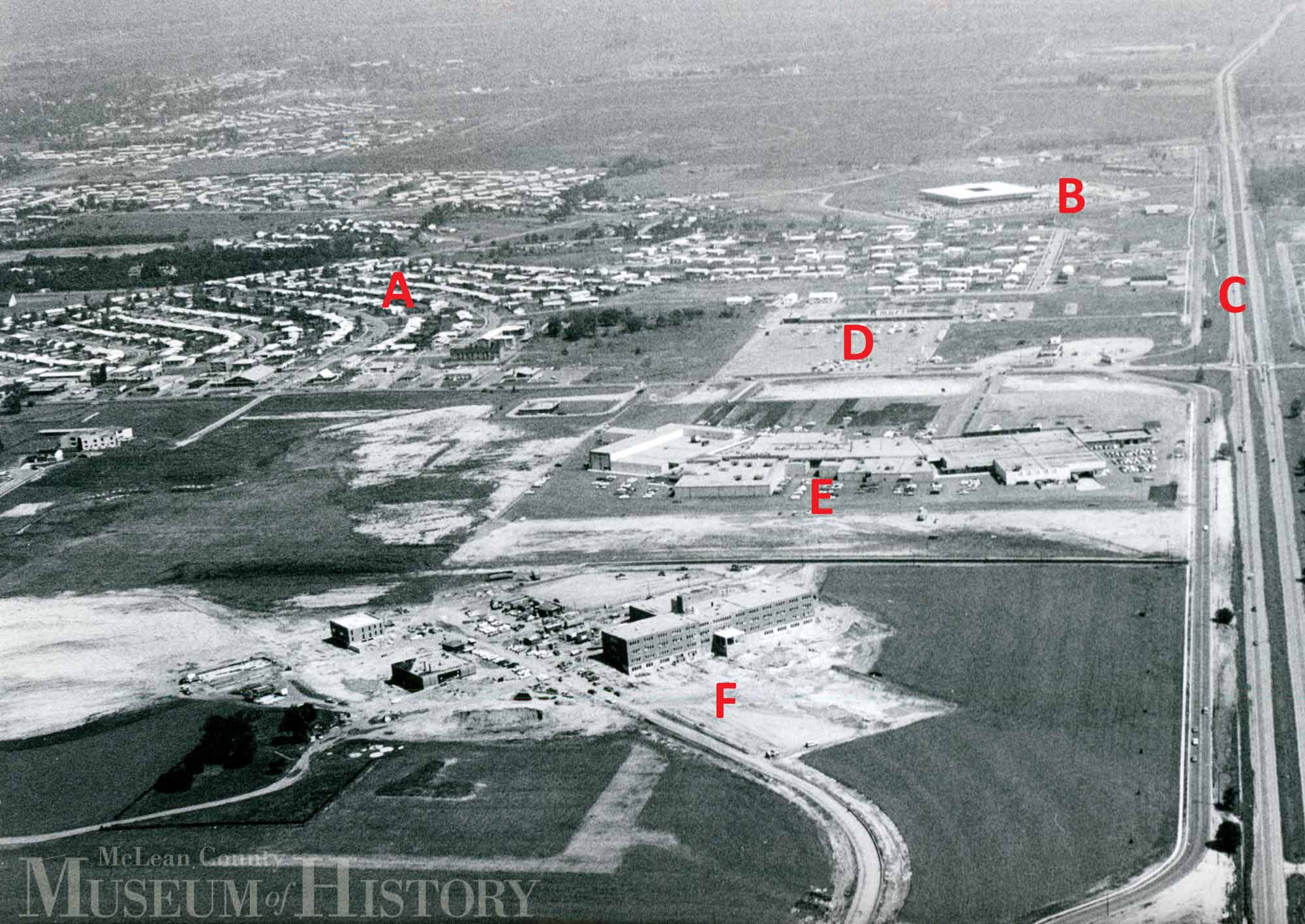 Aerial view of Eastland Mall, 1967.