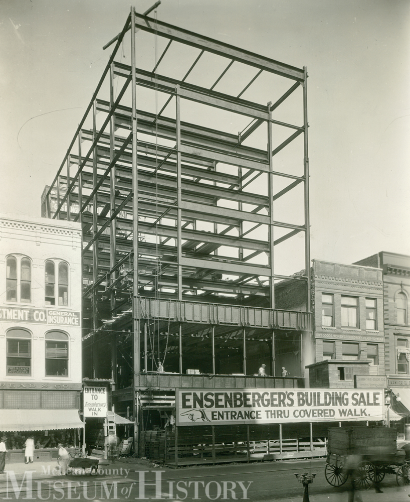 Construction of Ensenberger's, 1925.