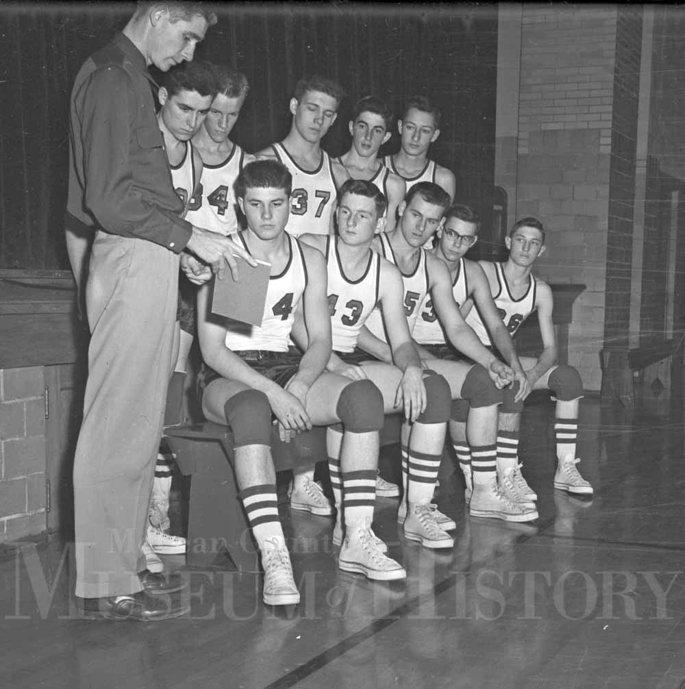Gridley High basketball team, 1953