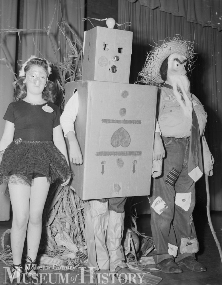 Jefferson School Halloween, 1957.