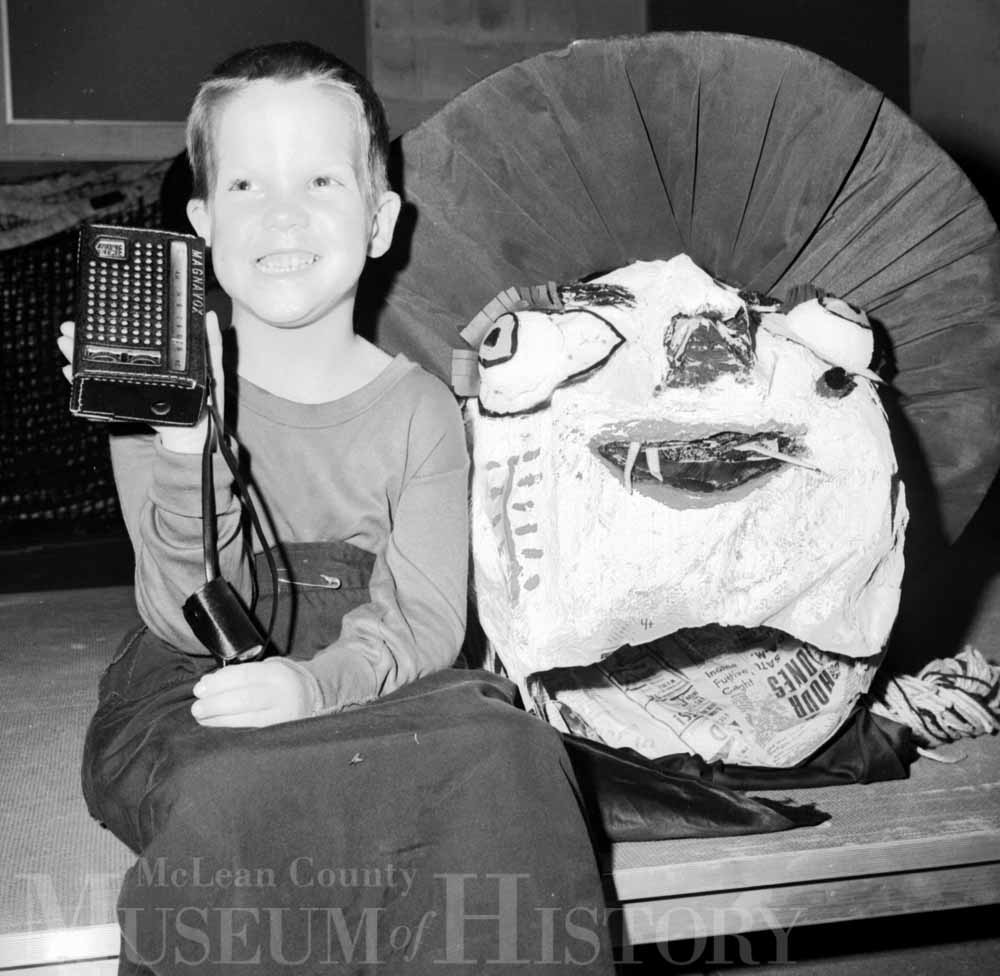 Young by with an ugly costume, 1968.