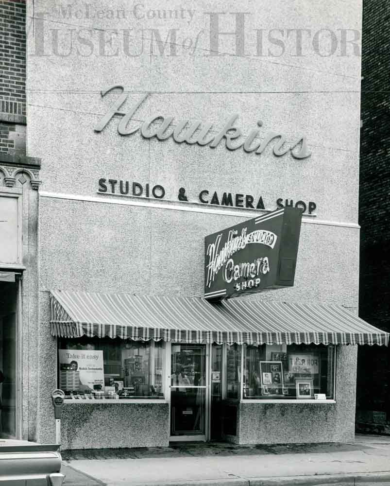 Hawkins Camera shop storefront, undated.