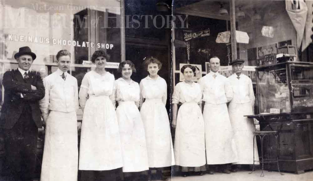 Staff of Kleinau's, 1915.
