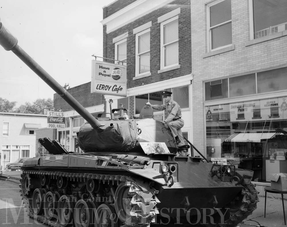 LeRoy Fall Festival, featuring a tank, 1963.