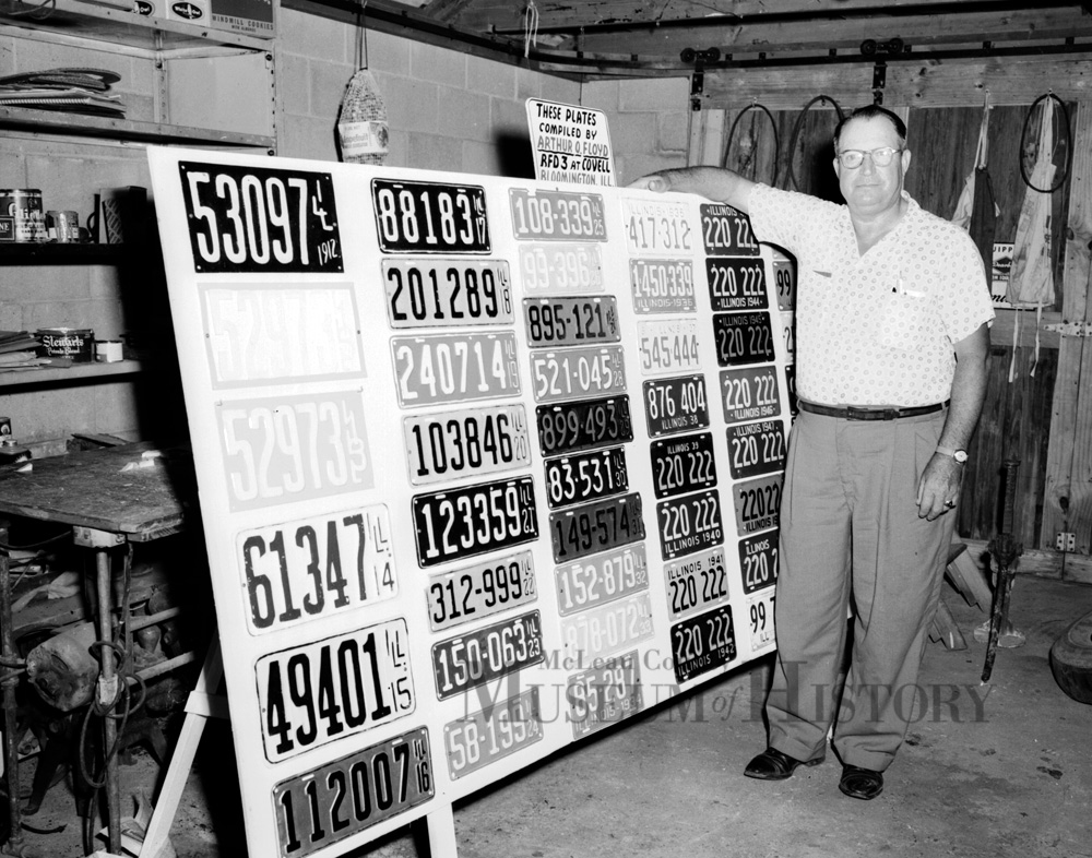 License plate collection, 1958.