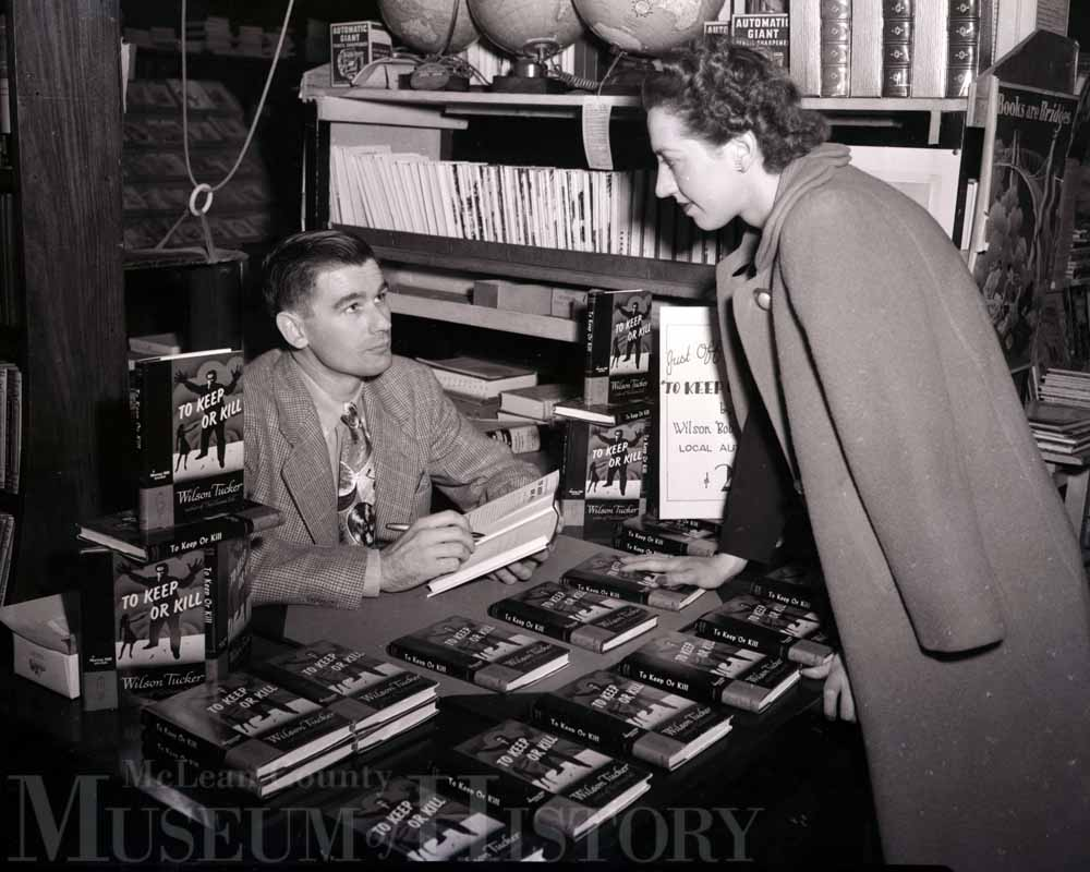 Books signing, 1947.