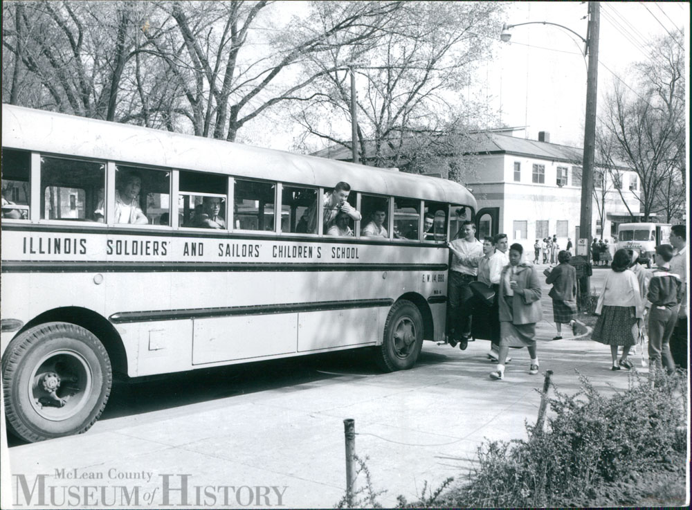 Illinois Soldiers' and Sailors' Children's School bus, 1958.