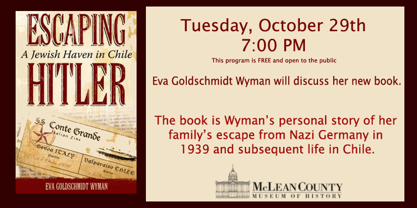 Escaping Hitler:  A Jewish Haven in Chile presented by Eva Goldschmidt Wyman