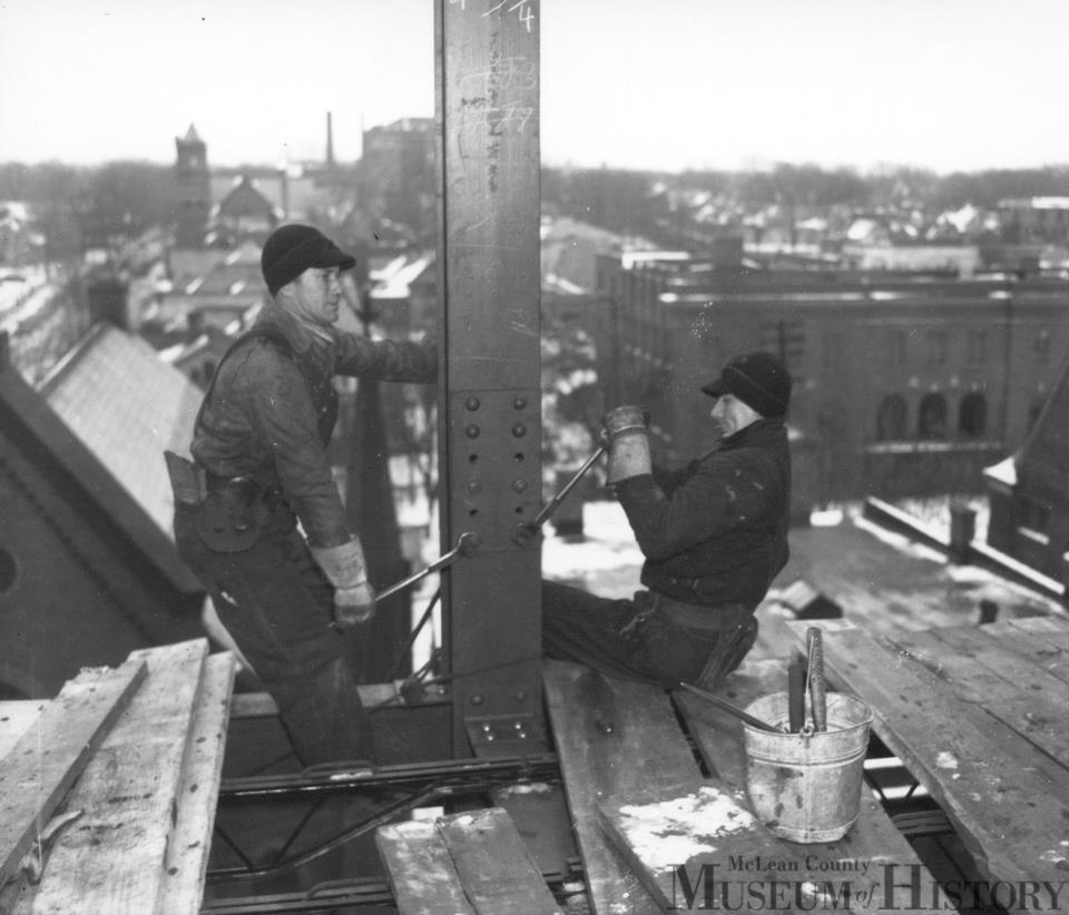 Wintertime Construction - State Farm Insurance Addition, January 1939